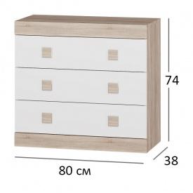 Комод для спальни Сфера 1 80х38х75 см