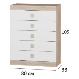 Комод для спальни Сфера 2 80х38х101 см