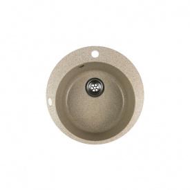 Гранітна мийка Idis Fusion №1 490 Pebble