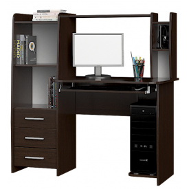 Стол компьютерный Лира Эверест 125х60х125 см Венге темный