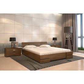 Двуспальная кровать из дерева 160х200 щит Сосны Дали Орех