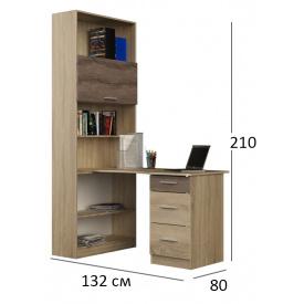Стол письменный угловой со шкафом Гранд Эверест дуб сонома+трюфель
