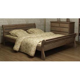 Кровать из массива сосны Верона 160х200 Mebigrand орех темный