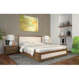 Двуспальная кровать с подъемным механизмом из дерева 160х200 щит Сосны Рената Д Орех