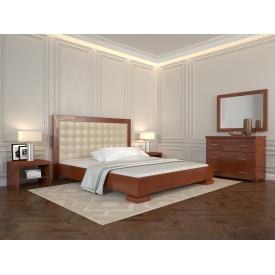 Двуспальная кровать из дерева 160х200 щит Сосны Подиум Яблоня локарно