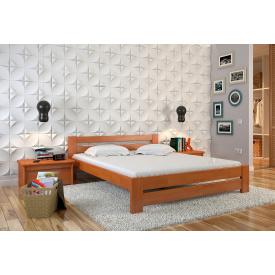Двуспальная кровать из дерева 160х200 щит Сосны Симфония