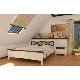 Кровать из массива сосны Прованс 160х200 Mebigrand белая