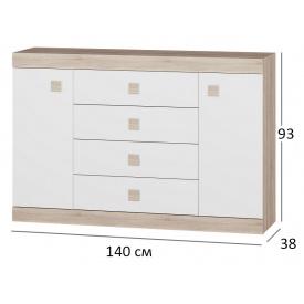 Комод для спальни Сфера 8 140х38х94 см