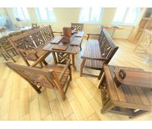 Деревянная мебель из массива термо дуба от производителя, комплект Furniture set - 40