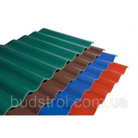 Покрівельна панель Керамопласт Хвиля 2000х900х5 мм коричневий