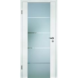DesignLine Rail межкомнатные двери Huga сочетание дерева и стекла 900х2000х140 цена за блок