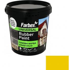 Гумова фарба Farbex жовта (1.2 кг)