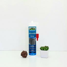 Герметик силиконовый универсальный прозрачный Apen Seal 280 мл.