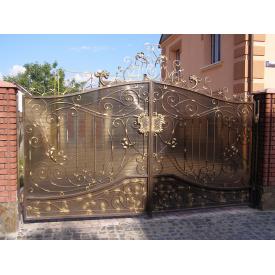 Ворота ковані ПП Брама Хром
