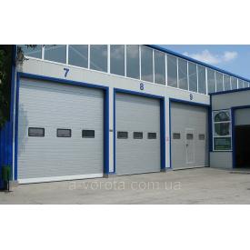 Промышленные секционные ворота alutech protrend4000х3080 мм