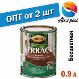 AURA TERRACE 0,9 л бесцветный Масло для террас Пропитка с тунговым маслом для древесины