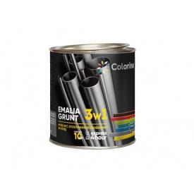 Эмаль-грунт 3в1 Colorina черная (RAL 9005) 0,75 кг