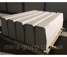 Бордюр дорожный Мирра-Груп БР 1000х300х150 мм серый большой