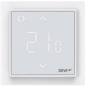 Сенсорный Wi-fi программируемый регулятор для теплого пола DEVIreg Smart /белый