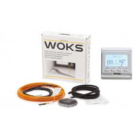 Греющий кабель для теплого пола Woks18 / 12,3-13,5м²/ 2190Вт / 123м + программатор Е 51