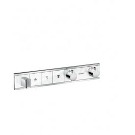 RainSelect Термостат для душа с 3 кнопками белый хром HANSGROHE 15356400