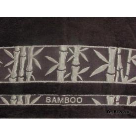 Простирадло Arya в сумці Бамбук Жаккард 200x220 см Elanor темно-коричнева