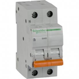 Автоматичний вимикач ВА63 1П+Н 50A C 4,5 кА