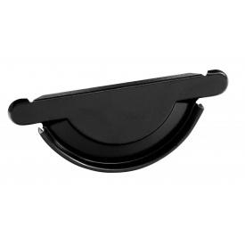 Заглушка желоба универсальная с уплотнителем Bilka 150 мм черная (RAL 9005)