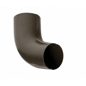 Колено Bilka 60 градусов 90 мм темно-коричневое RAL 8019
