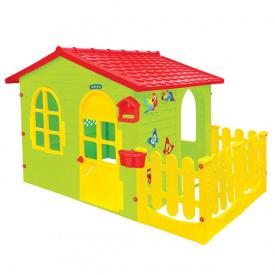 Дитячий ігровий будиночок пластиковий садовий Mochtoys 12243