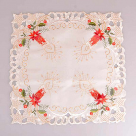 Серветка Lefard 35x35 см біла зі свічками 829-106