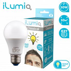 Светодиодная лампа ilumia 006 L-10-A60-E27-WW 1000Лм 10Вт 3000К