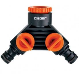 """Розподільник Claber 1/2""""-3/4"""" вихід 2-х канальний адаптер коннектора Y (85980000)"""