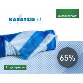 Сітка затінюють KARATZIS біло-блакитна 65% (6х50м)