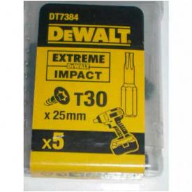 Биты ударные DeWALT IMPACT TORSION Т30, 25 мм, 5 шт (DT7384T)