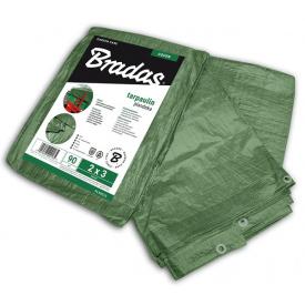 Тент Bradas GREEN 6x8 м 90 г/м2 (PL906/8)