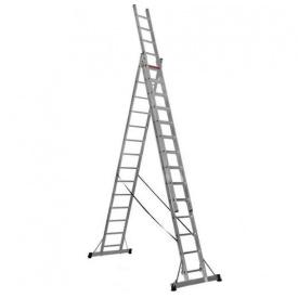 Лестница трехсекционная расскладная VIRASTAR Triomax Pro алюминиевая 3x14 (TS220)