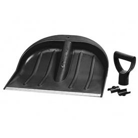 Лопата для уборки снега Grad пластиковая, чёрная 435x470x10мм (5049465)