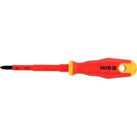 Отвертка крестовая YATO диэлектрическая PZ2x100мм VDE до 1000V (YT-2826)