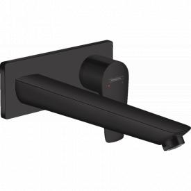 Смеситель для раковины Hansgrohe Talis E однорычажный скрытого монтажа цвет покрытия матовый черный 71734670