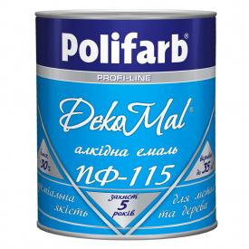 Емаль ПОЛІФАРБ DekoMal ПФ-115 тем.-коричнева 0,9кг
