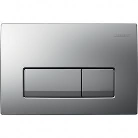 Delta 51 Смывная клавиша двойной смыв пластик хром матовый GEBERIT 115.105.46.1
