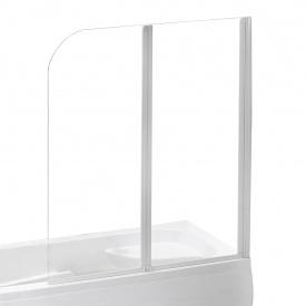 Шторка на ванну 120x138 см цвет профиля белый EGER 599-121W