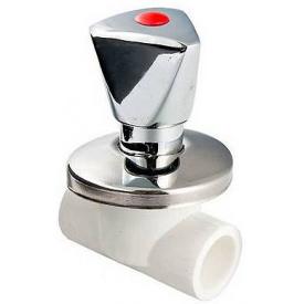 Полипротиленовый вентиль Valtec PPR Хромований 25 мм VTp.713.0.025