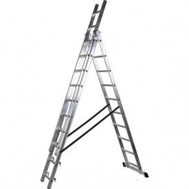 Лестница трехсекционная расскладная VIRASTAR DW 3 PROFI LIGHT алюминиевая 3x10 (DW3x10)