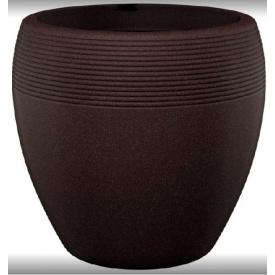 Кашпо для цветов Lineo 30 коричневый