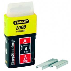 Скобы STANLEY тип А, 4мм, в степлера ручного Light Duty, 1000шт (1-TRA202T)
