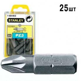 """Бита STANLEY с шестигранным хвостовиком 1/4 """"Pz3, 25мм, 25шт (1-68-953)"""
