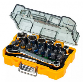 Набор бит и головок DeWALT Hex, Torx, Philips, Pozidriv, 25 мм, 24 шт (DT71516)