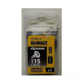 Биты ударные DeWALT IMPACT TORSION Т15, 25 мм, 5 шт (DT7380T)